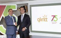 De izq. a dcha, Eduardo Pastor, presidente del Grupo Cofares; y Nuno Vasco Lopes, presidente de Glintt