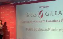 María Río, vicepresidenta y CEO de Gilead España, durante la entrega de las becas. Foto: ConSalud