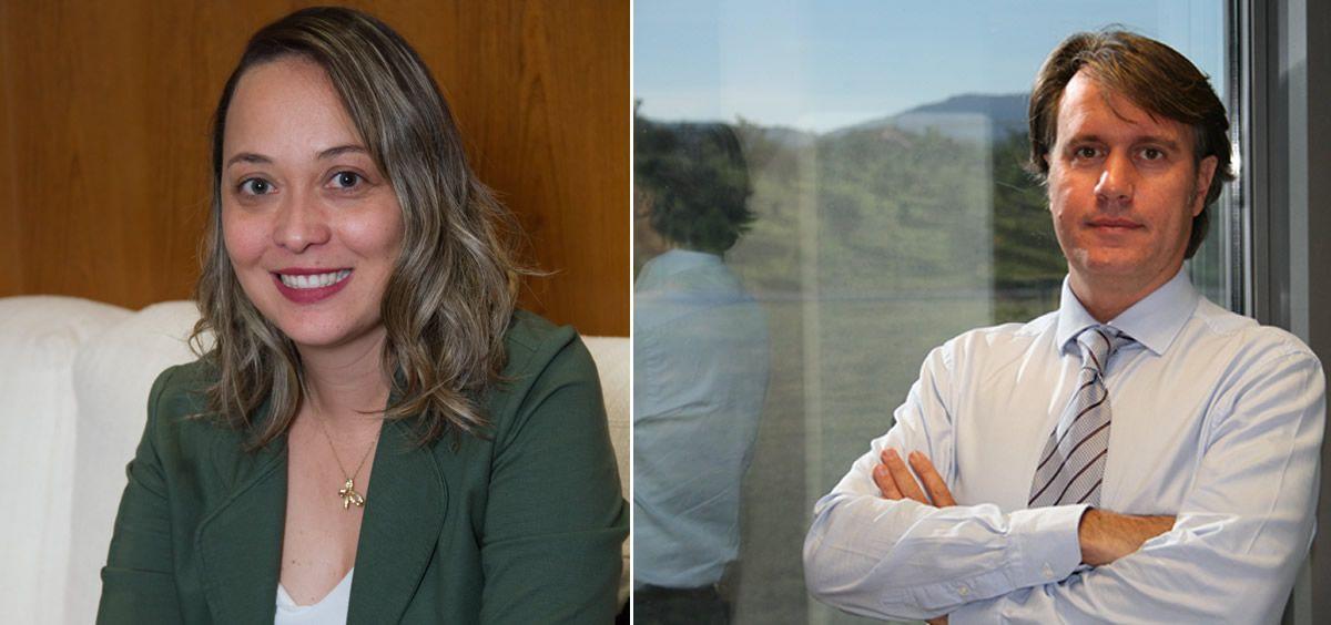 De izq. a dcha.: Santiago Culí liderará el departamento de Asuntos Públicos de Boehringer Ingelheim; y Denise Quintiliano, Comunicación y Relaciones con Pacientes. (Fotomontaje. ConSalud.es)