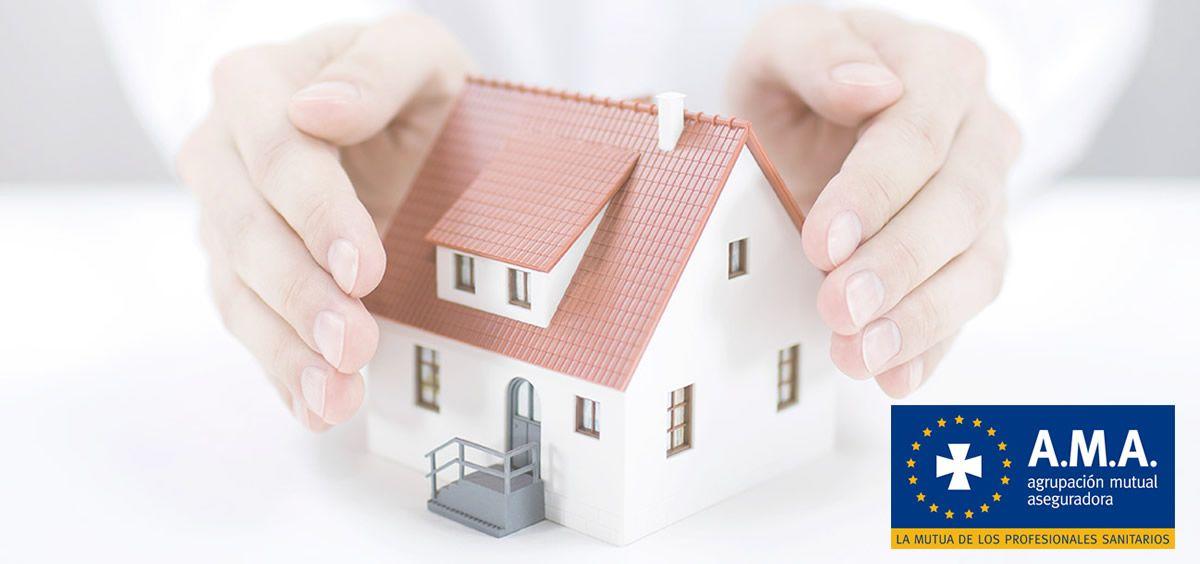 A.M.A. ofrece un seguro multirriesgo para que la tranquilidad llegue a tu hogar. (Foto. Fotomontaje ConSalud)