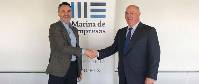 El acuerdo fue firmado por Alberto de Rosa, consejero delegado de Ribera Salud, y Javier Jiménez, director general de Lanzadera