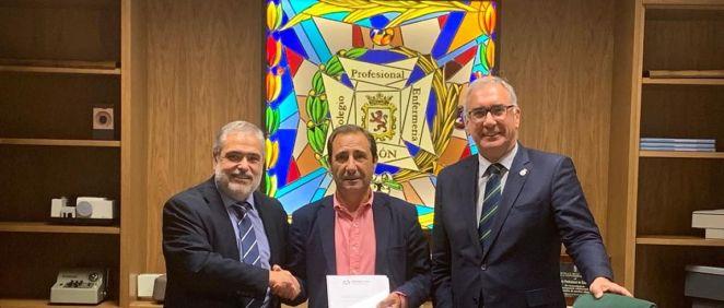 AMA Vida firma con el Colegio de Enfermería de León la póliza colectiva de Vida. (Foto. ConSalud)
