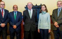 Miembros de Asisa, de la URJC, de la Real Academia de Medicina de la Comunidad Valenciana y de la RANM (Foto. ECSalud)