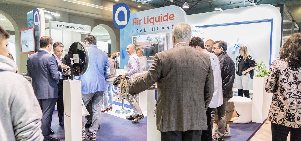 Stand de Air Liquide Healthcare. (Foto. ConSalud)