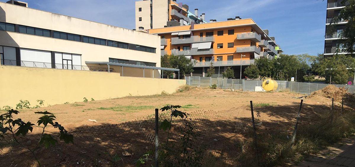 Terreno donde se construirá el nuevo hospital en Badalona en 2021 (Foto. ConSalud)