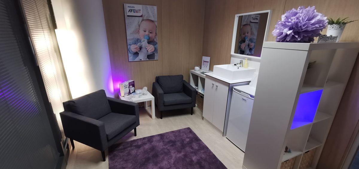 Sala de lactancia de las oficinas de Philips en Madrid