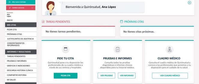 Portal para pacientes Mi Quirónsalud