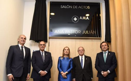 El salón de actos de A.M.A. recibe el nombre de Ana Pastor Julián