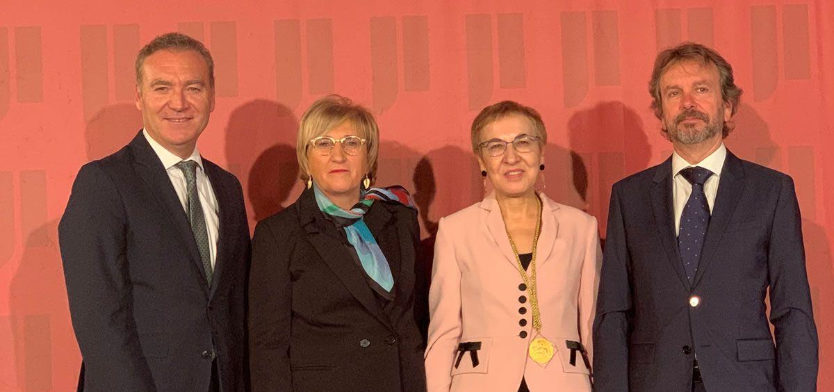 De izquierda a derecha, Julio de la Rosa, Ana Barceló, Pura Muñoz-Cánovas y Ángels Bajils