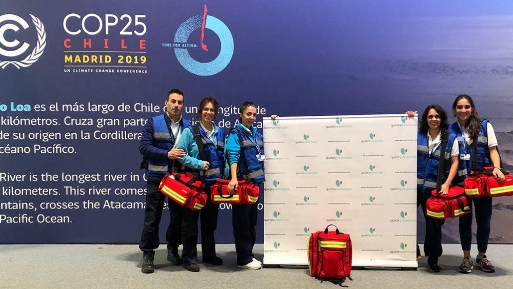 Servicio médico de Medycsa (Quirónprevención) en la Cumbre del Clima (COP25) que se está celebrando en Madrid (Foto: ECSalud)