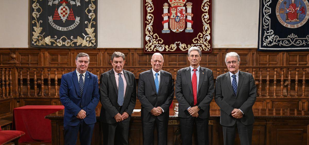 Francisco J. de la Mata de la Mata, profesor Pedro Carda, Francisco Ivorra, José Vicente Saz Pérez, y profesor Augusto García Villanueva.