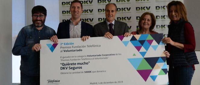 De izq. a dcha., Jesús Arbués, Francisco Peña, Carlos Peralta, María Jesús Castro, y Yolanda Martínez. (Foto. ConSalud)