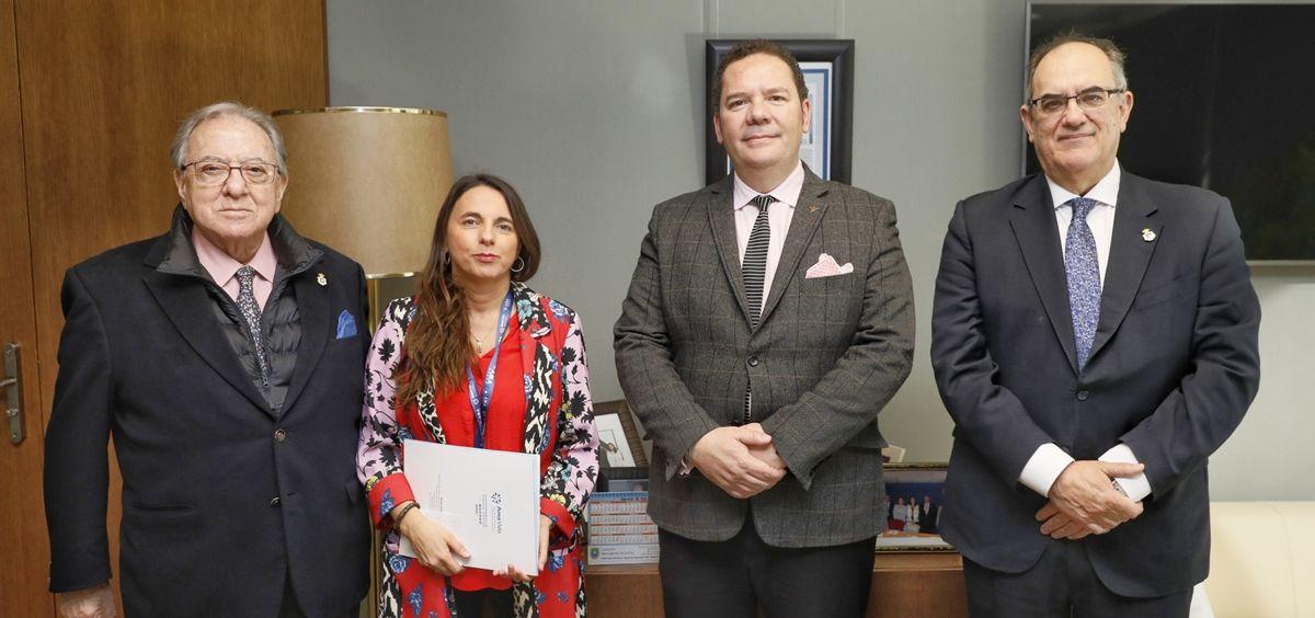 De izq. a dcha.: Diego Murillo, Raquel Murillo, Jaime Gutiérrez y Luis Campos. (Foto. ECSalud)