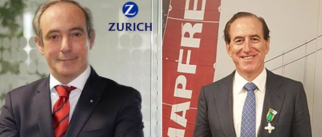 De izq. a dcha.: Vicente Cancio, CEO de Zurich Seguros; y Antonio Huertas, CEO de Mapfre.