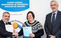 De izq. a dcha.: Miguel Ángel Vázquez, Yolanda Visus y José Luis Mata
