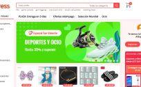 Página web de Aliexpress