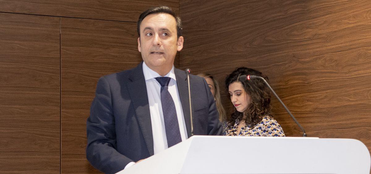 El presidente del Grupo Cofares, Eduardo Pastor, interviene en los IV Premios SaluDigital (Foto: Óscar Frutos - ConSalud.es)