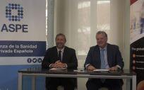 De izq. a dcha., Alfonso de la Lama Noriega, secretario general de ASPE; y Javier Díez, presidente de Grupo Hedima.