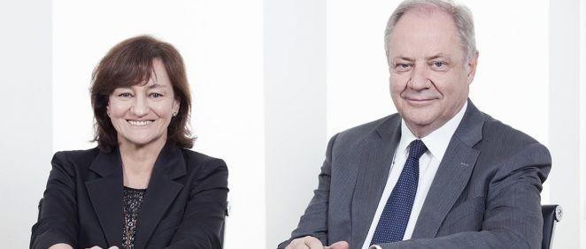 Santiago de Torres, presidente, junto a Isabel Lozano, CEO de Atrys