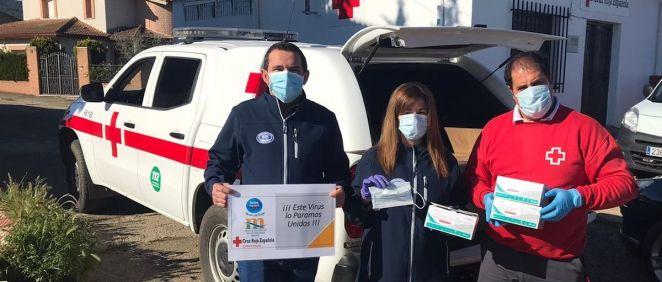 Nestlé dona mascarillas a Cruz Roja (Foto. ECSalud)