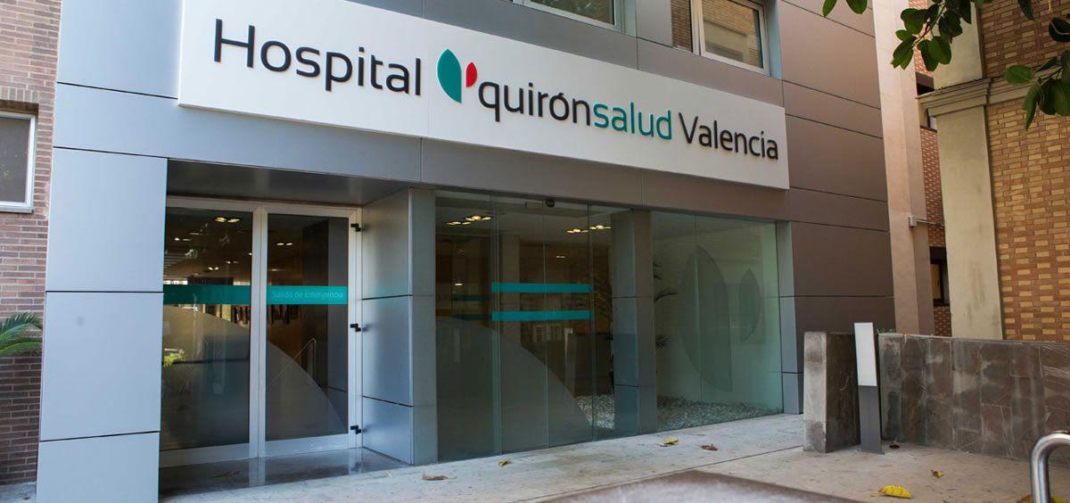 Fachada del Hospital Quirónsalud Valencia