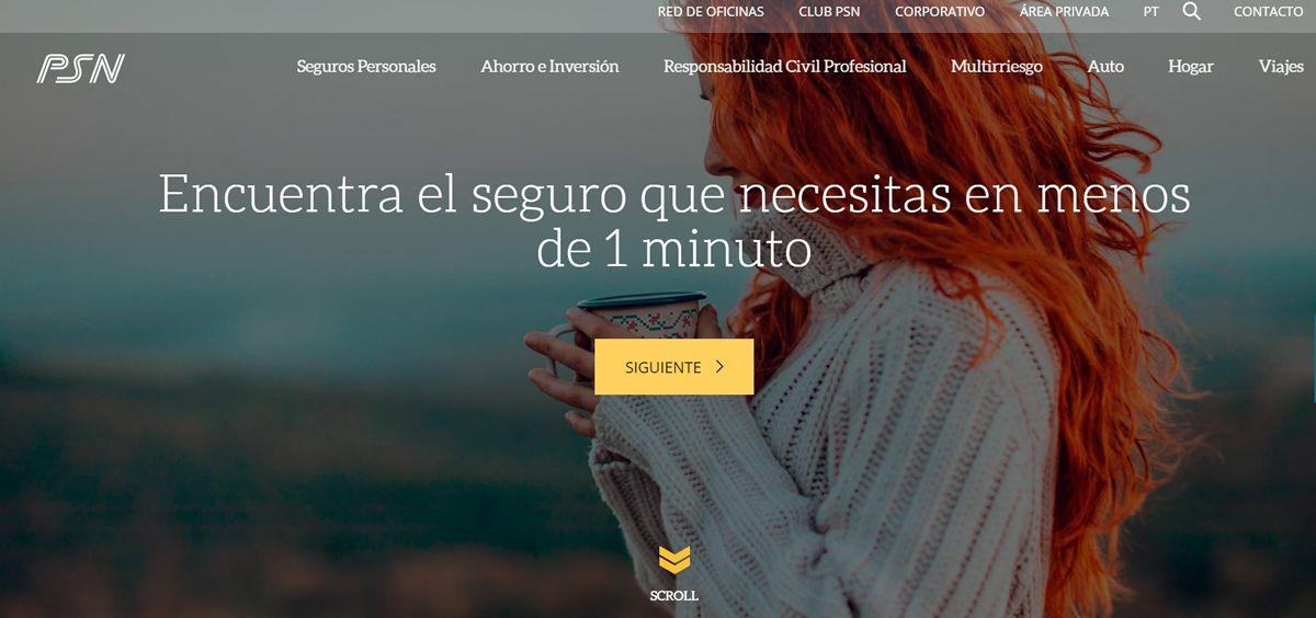 Nueva web de PSN.