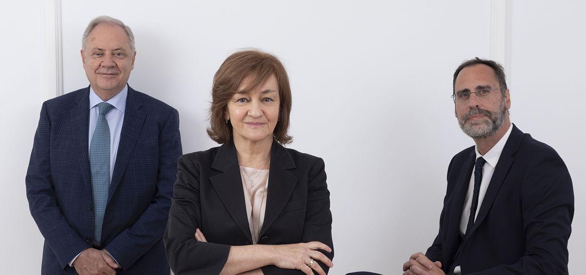 Santiago de Torres, presidente de Atrys Health; Isabel Lozano, CEO de Atrys Health; y José María Huch, CFO de Atrys Health.
