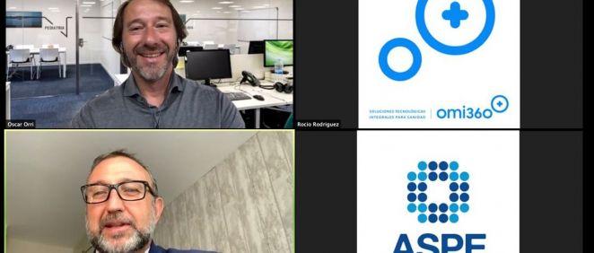 Óscar Orri, director general de STACKS; y Alfonso de la Lama Noriega, secretario general de ASPE.