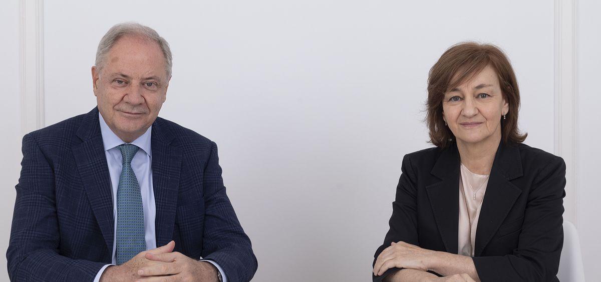 Santiago de Torres, presidente de Atrys Health e Isabel Lozano, CEO de Atrys Health.