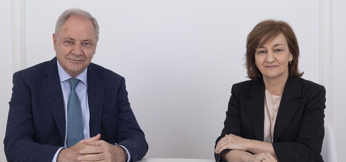 Santiago de Torres, presidente de Atrys Health e Isabel Lozano, CEO de Atrys Health
