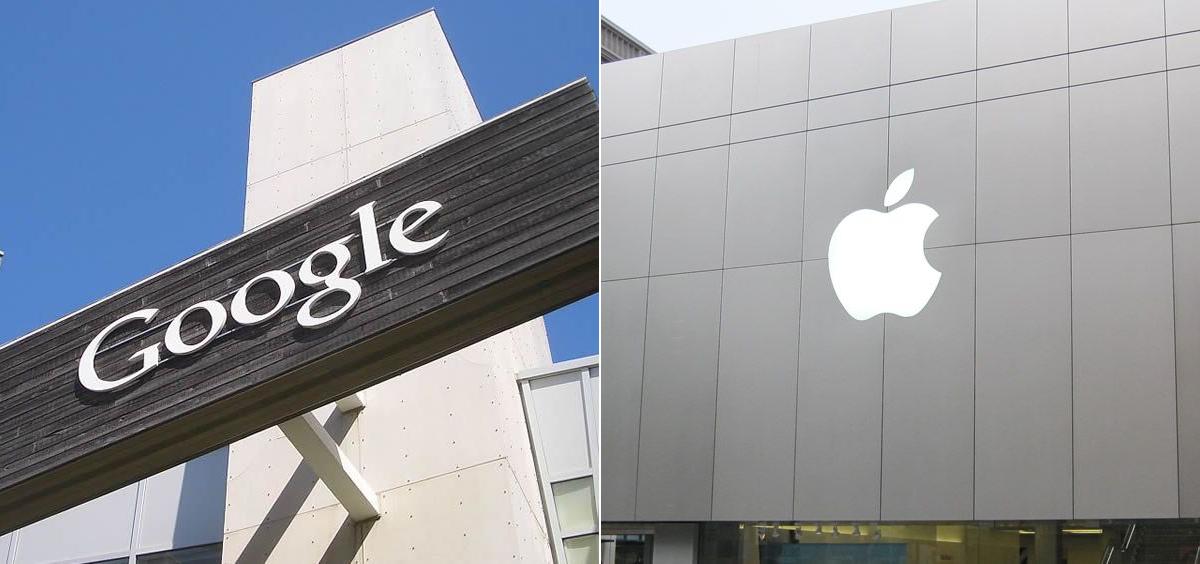 Sedes de Google y Apple (Fotomontaje ConSalud.es)