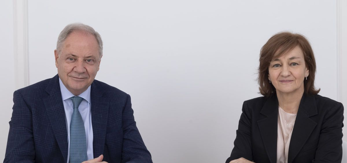 Santiago de Torres, presidente de Atrys, e Isabel Lozano, CEO de Atrys