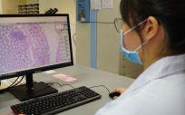 Patología digital en el Hospital General de Singapur. (Foto. Philips)