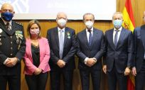 De izq. a dcha., Jorge Manuel Martí, Myriam Pallarés, Francisco Ivorra, José Vilella, Jaime Ortiz y César Gozalbo.
