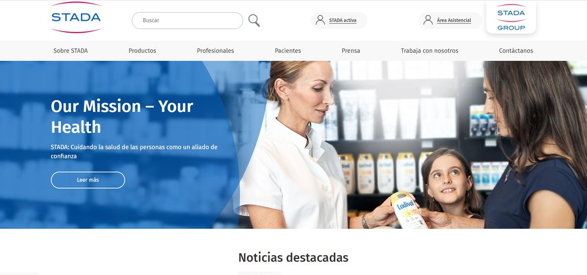 Stada transforma su web con un nuevo diseño y mejoras en la usabilidad y navegabilidad