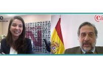 Ana Argelich, presidenta de MSD en España; y Ángel Asensio, presidente de la Cámarra de Comercio de Madrid.