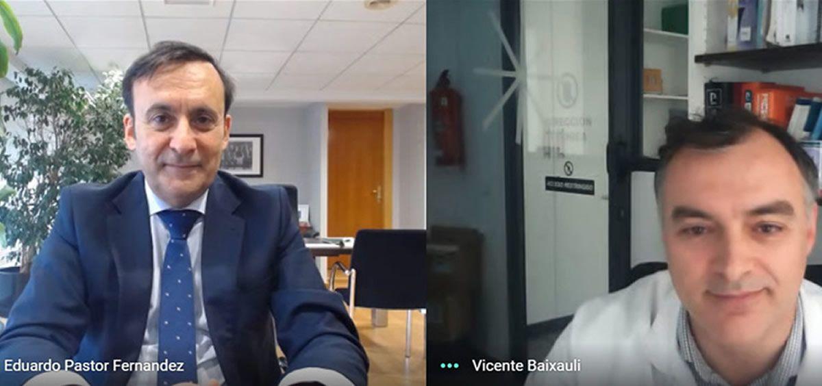 Los presidentes de ambas entidades, Eduardo Pastor y Vicente J. Baixauli.