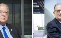 Diego Murillo, presidente de honor de A.M.A; y Luis Campos, presidente de la mutua.