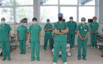 Profesionales del Hospital Polusa de Lugo.