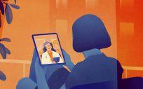 Una de las ilustraciones de la nueva campaña de Asisa.