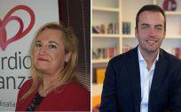 Maite San Saturnino, presidenta de Cardioalianza; y Carlos Parry, director de la Fundación AstraZeneca.