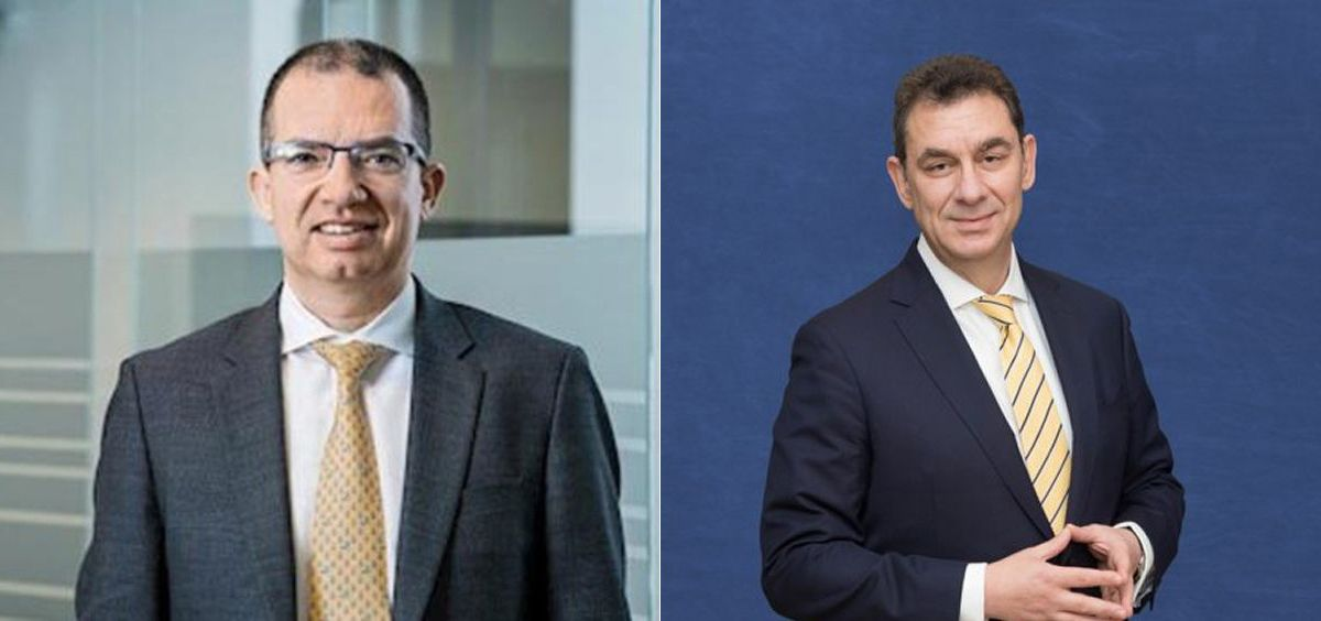 Stéphane Bancel, CEO de Moderna; y Albert Bourla, CEO de Pfizer.
