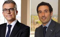 Jesús Ponce, director general de Novartis y presidente del Grupo Novartis España; y Joaquín Rodrigo Poch, director general de Sandoz España.