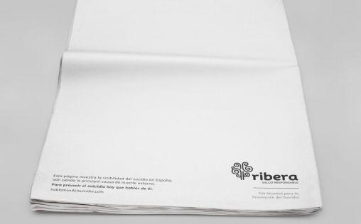 """Ribera lanza la primera campaña """"en blanco"""" para concienciar sobre visibilizar el suicidio"""