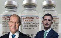 Christophe Weber, CEO de Takeda; y Javier López Belmonte, vicepresidente y presidente en funciones de Rovi