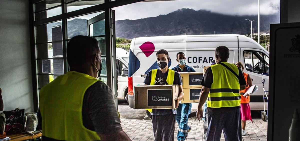 La Fundación Cofares dona 1.500 mascarillas FFP2 a Cáritas. (Foto. Fundación Cofares)