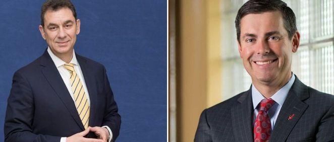 Albert Bourla, CEO de Pfizer; y David A. Ricks, CEO de Lilly.