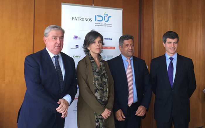 De izd, a drcha.: Félix Bravo, Marta Villanueva, Antonio Bernal y Adolfo Fernández-Valmayor.
