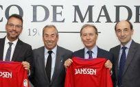 Pablo Lago (FATM), Guillermo Castillo (Ipsen), Adelardo Rodríguez (FATM), Martín Sellés y Miguel Ángel López (Janssen)