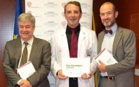 Guillem López Casasnovas; el doctor Javier Palau; y Sergio García